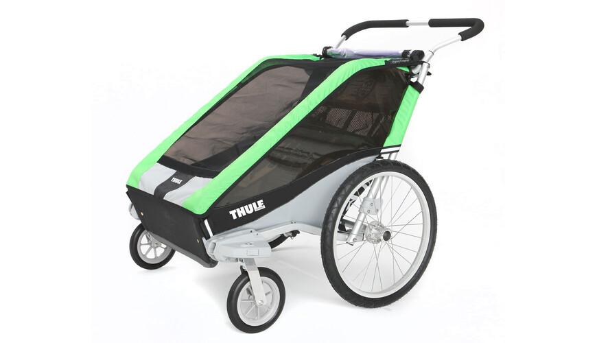 Thule Chariot Cheetah 2 + Strolling Kit fietsaanhanger groen/zwart
